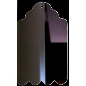 """CBW, Étiquette ondulée 4.5"""", acrylique clair # C1T-011-045"""