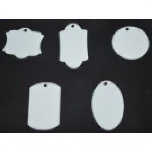 CBW, Ensemble de 5 pièces pour porte-clé, en acrylique blanc  B1G-050