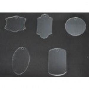 CBW, Ensemble porte-clé de 5 pièces, en acrylique clair  C1G-050