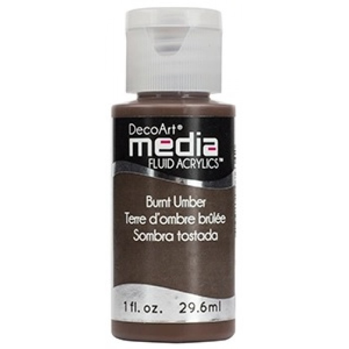 Acryliques Fluides DecoArt Media 1oz Terre d'ombre brulée S1 DMFA003