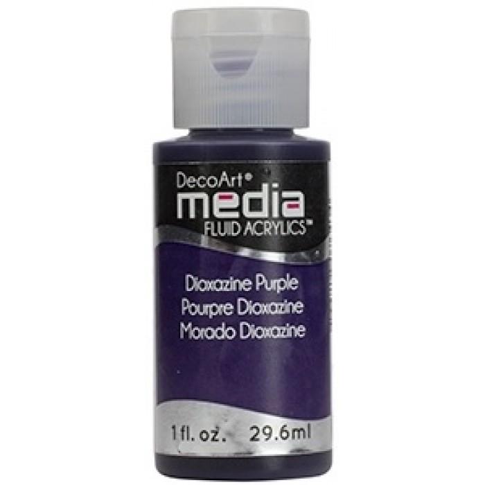 Acryliques Fluides DecoArt Media 1oz Pourpre Dioxazine S4 DMFA012