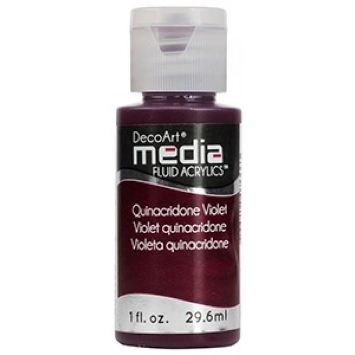 Acryliques Fluides DecoArt Media 1oz Violet Quinacridone S4 DMFA034