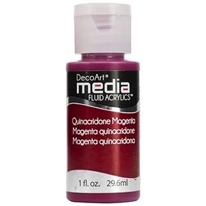 Acryliques Fluides DecoArt Media 1oz Magenta Quinacridone S5 DMFA035