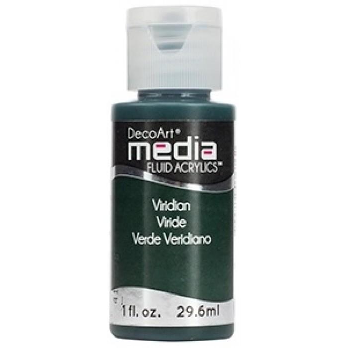 Acryliques Fluides DecoArt Media 1oz Viride S1 DMFA044