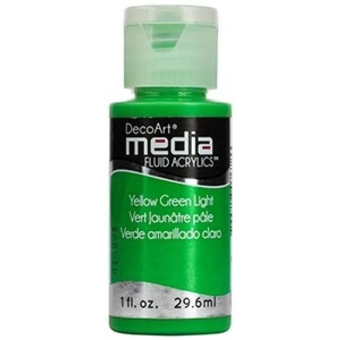 Acryliques Fluides DecoArt Media 1oz Vert Jaunâtre Pâle S2 DMFA046