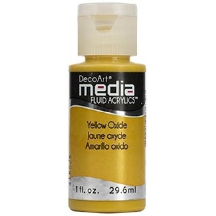 Acryliques Fluides DecoArt Media 1oz Jaune Oxyde S1 DMFA047