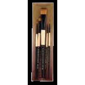 FM Brush, Dynasty Ensemble Pinceau Black Gold Manche Court Ensemble #BG5 #27570