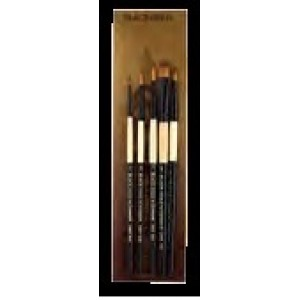 FM Brush, Dynasty Ensemble Pinceau Black Gold Manche Court Ensemble #BG4 #27593