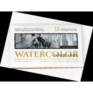 """Jack Richeson, Bloc de papier Cartes Postales Aquarelle, 4"""" x 6"""", sans acides, 135 lb pressé à froid, 15 par bloc #100205"""
