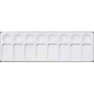 """Jack Richeson, Cabaret incliné 8 fontaines, 4"""" x 12"""", plastique blanc #101000"""