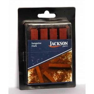 Jack Richeson,Jackson bâtonnets de pastel à croquis, sanguin foncé, ensemble de 4 #400170