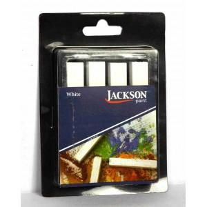 Jack Richeson,Jackson bâtonnets de pastel à croquis, blanc doux, ensemble de 4 #400174