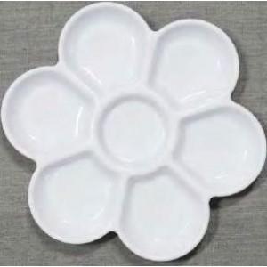 Jack Richeson, Palette en plastique 7 fontaine plat en forme de fleur #400232