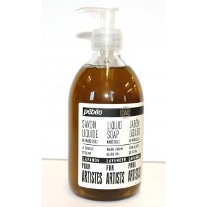Pébéo, Savon liquide de Marseille à l'huile d'olive et lavande, bouteille de 500ml #801230