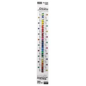 Pébéo, Étui Studio Acrylics 40 tubes 20ml assorties #833441