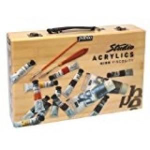 Pébéo, Studio Acryliques Coffret Atelier Bambou 12 x 20ml tubes #834660